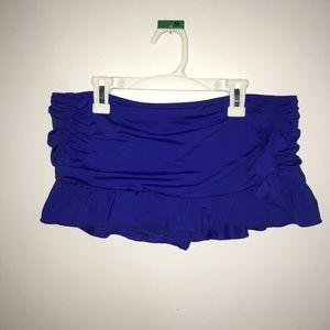 Bikini skirt , electric blue